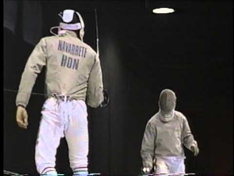 Fencing : 1996 Olympics Sabre Men Bronze Medal Match  Navarrete (HUN) vs Touya (FRA)