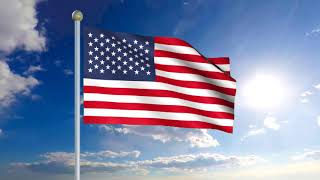 United State Of American (USA) National Anthem Instrumental Song With Animated Flag