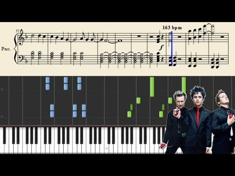 Green Day - 21 Guns - Piano Tutorial + Sheets
