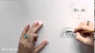 Учимся РИСОВАТЬ карандашом глаз    Азы Рисования Глаза