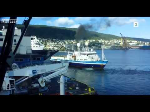 Seismic Boat Crashes into Cruise Ship