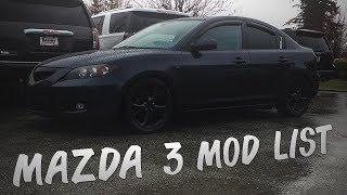 MAZDA 3 MOD LIST!   Mazda 3 2007