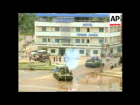 Cambodia -Government Troops & Khmer Rouge Fighting