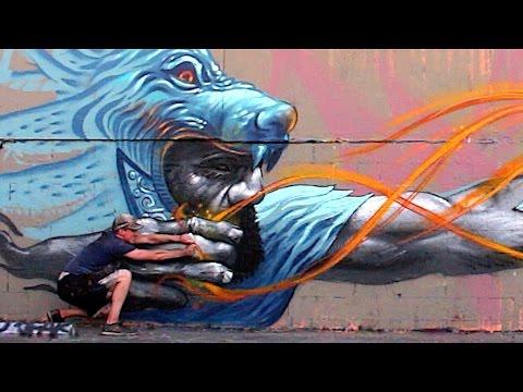 Badass Archer Street Art Mural - Los Angeles | KIPTOE