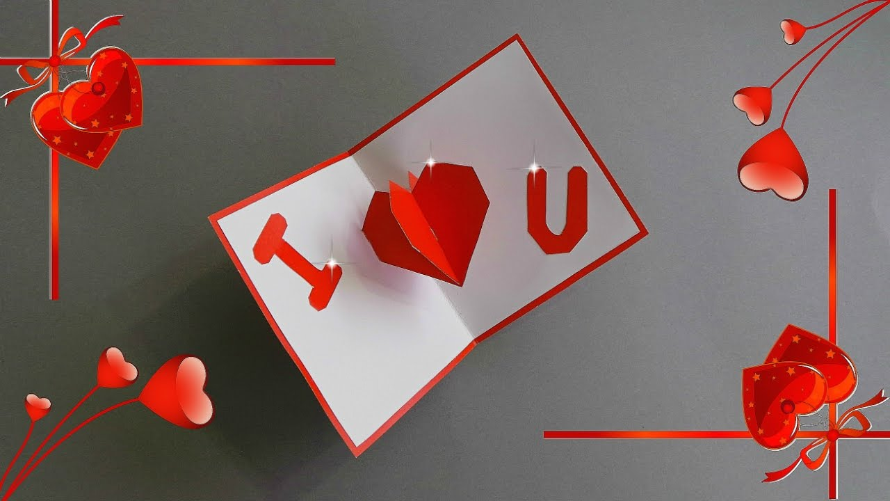 DIY POP UP HEART CARD 3D HEART CARD TUTORIAL