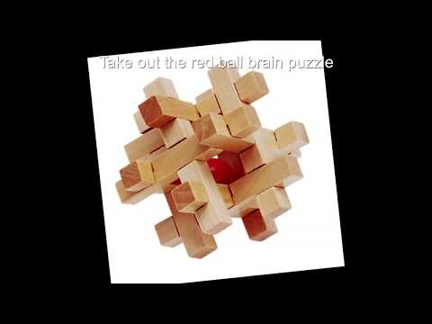 Take out the red ball wooden brain iq puzzle best way to build this cube