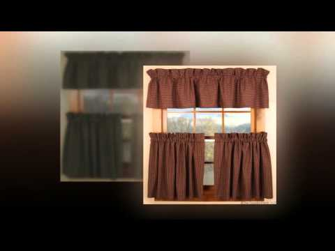 Country Porch Curtains - Window Valances & Tiers