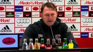 Hasenhüttl und Skripnik nach FC Ingolstadt 04 vs. Werder Bremen (1. Bundesliga, 2015/16)