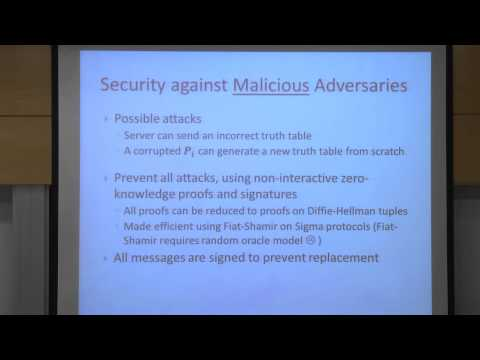 Non-Interactive Secure Computation Systems Benny Pinkas at Technion