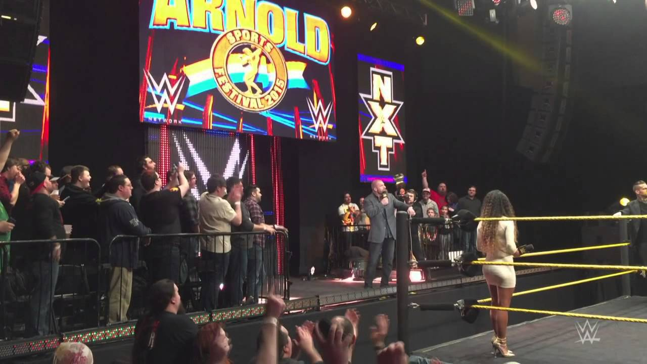 Triple H welcomes the crowd to the first NXT live event: Columbus, Ohio, March 5, 2015