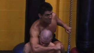 Frank Shamrock teaches Rear Choke Set Ups to Joe Brignoli and John Graden