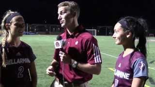 WSOC: Bellarmine v. Centre - Polly Marino, Caroline Lee & Coach Tinius