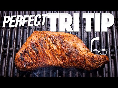 PERFECT TRI TIP ON THE GRILL (EASY STEAK RECIPE!) | SAM THE COOKING GUY