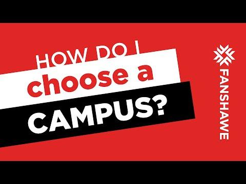 How do I choose a campus?