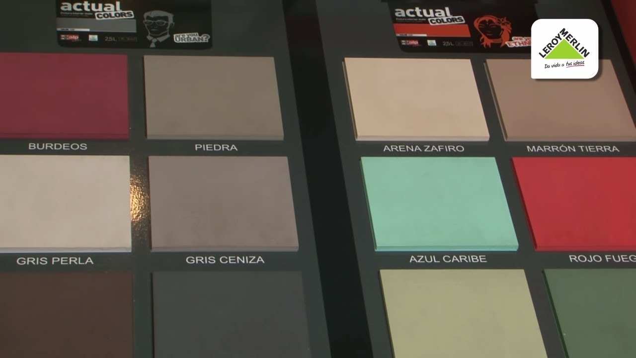 C mo elegir pintura de interior leroy merlin youtube - Pintura vintage leroy merlin ...