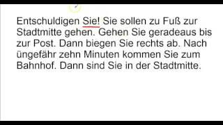 German Grammar: Richtungen, Directions - Sample1