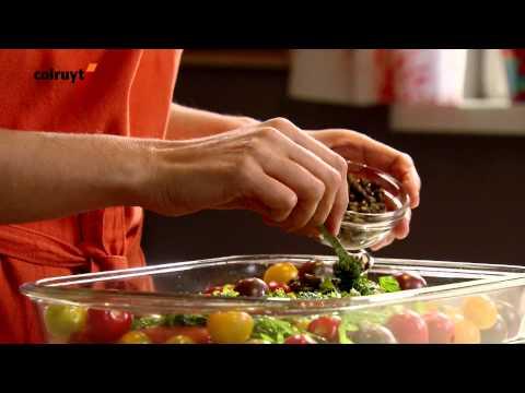 recette-saumon-au-four-et-fettuccines-à-la-roquette---colruyt