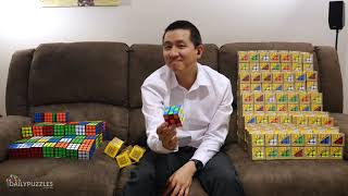 I UNBOX 300 RUBIK'S CUBES ON THE COUCH. that's it.