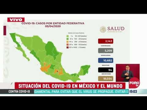 94 Muertos Y 2,143 Casos Confirmados En Mexico De Coronavirus O Covid 19