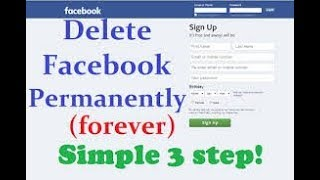 how to delete facebook account parmanent (2018)-full tutorial
