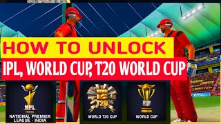 How to Unlock IPL in Wcc2 | World Cup, T20 WORLDCUP