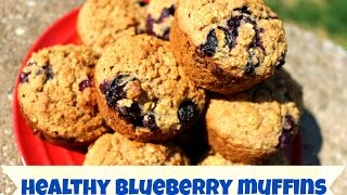 Healthy Oatmeal Blueberry Muffins!