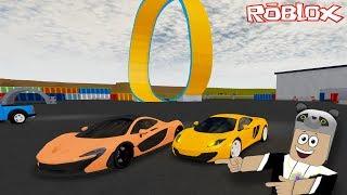 Yeni Arabamızla Ters Rampadan Uçuyoruz!! - Panda ile Roblox Full Throttle