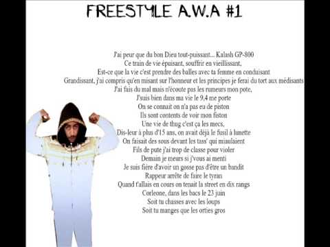 Lacrim - Freestyle A.W.A #1 (Paroles)