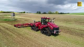 Bodenbearbeitung - Case Quadtrac Raupenschlepper & Väderstad Scheibenegge - moderne Landwirtschaft