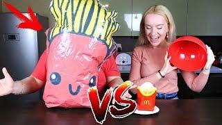 ОБЫЧНАЯ ЕДА против СКВИШИ ЧЕЛЛЕНДЖ / SQUISHY FOOD vs REAL FOOD CHALLENGE