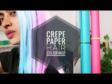 Hair Colour Using Crepe Paper _ Viral DIY Tested #2 || SuperWowStyle Prachi