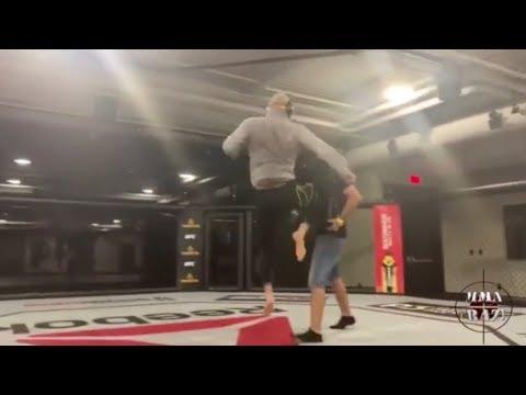 Jorge Masvidal drills flying knee that KO'd Ben Askren at UFC 239