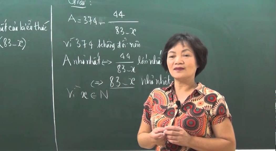 Tìm x để phép chia có giá trị nhỏ nhất – Toán 6 – Cô Phạm Thị Hồng – HOCMAI