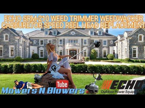 ECHO SRM-210 WEED TRIMMER WEEDWACKER CARBURETOR REPLACEMENT & SPEED REEL TRIMMER HEAD INSTALLATION