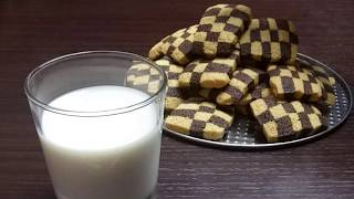 CHECKERBOARD COOKIES| Recipe Step by Step - Cucina in Cucina