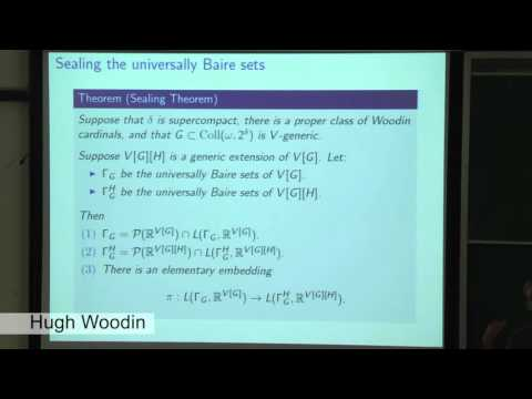 MM70 - Hugh Woodin - Formulating the axiom V = Ultimate L