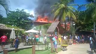 Cairu: Mais um incêndio em Morro de São Paulo