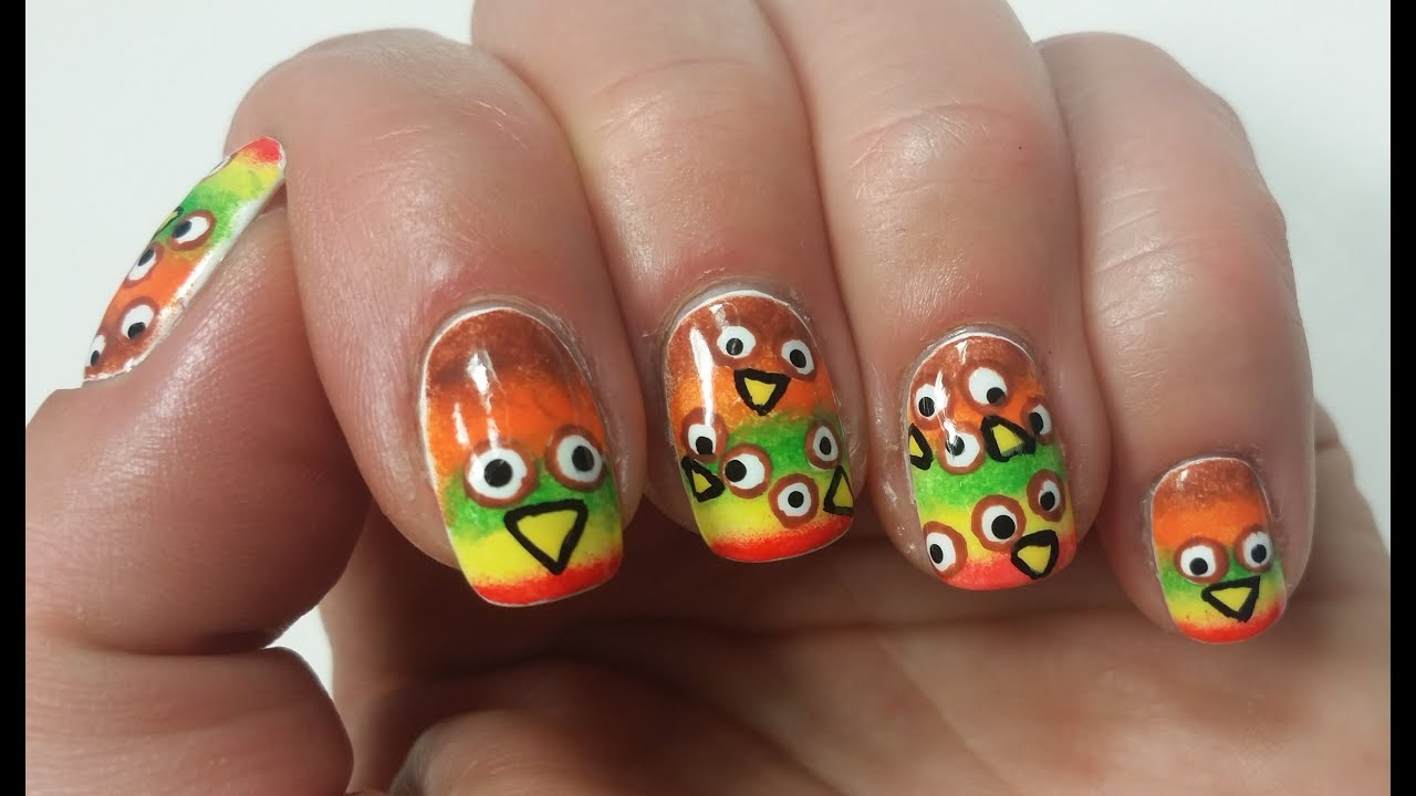 Thanksgiving nail art tutorial fun design youtube prinsesfo Choice Image