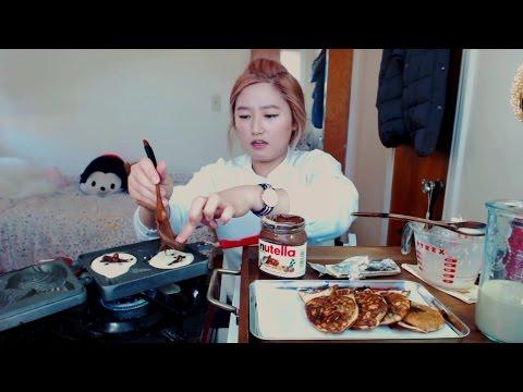 How to make Korean/Japanese Street Food (first time) - Taiyaki/붕어빵