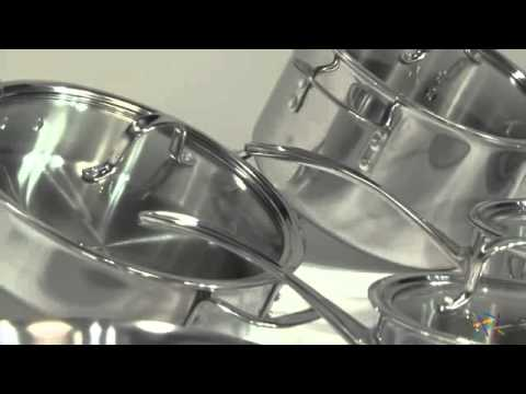 calphalon tri ply stainless steel 13 piece cookware set product review video - Calphalon Tri Ply Stainless Steel