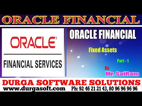 Oracle Financial||online training||Fixed Assets Part-1 by Sa