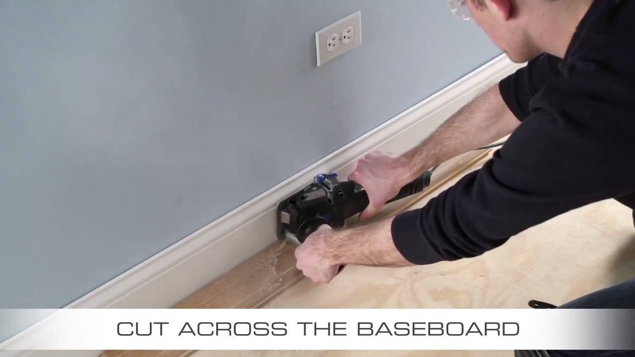 How To Cut Skirting Board >> How To Flush Cut Baseboard with Dremel US40 Ultra Saw ...
