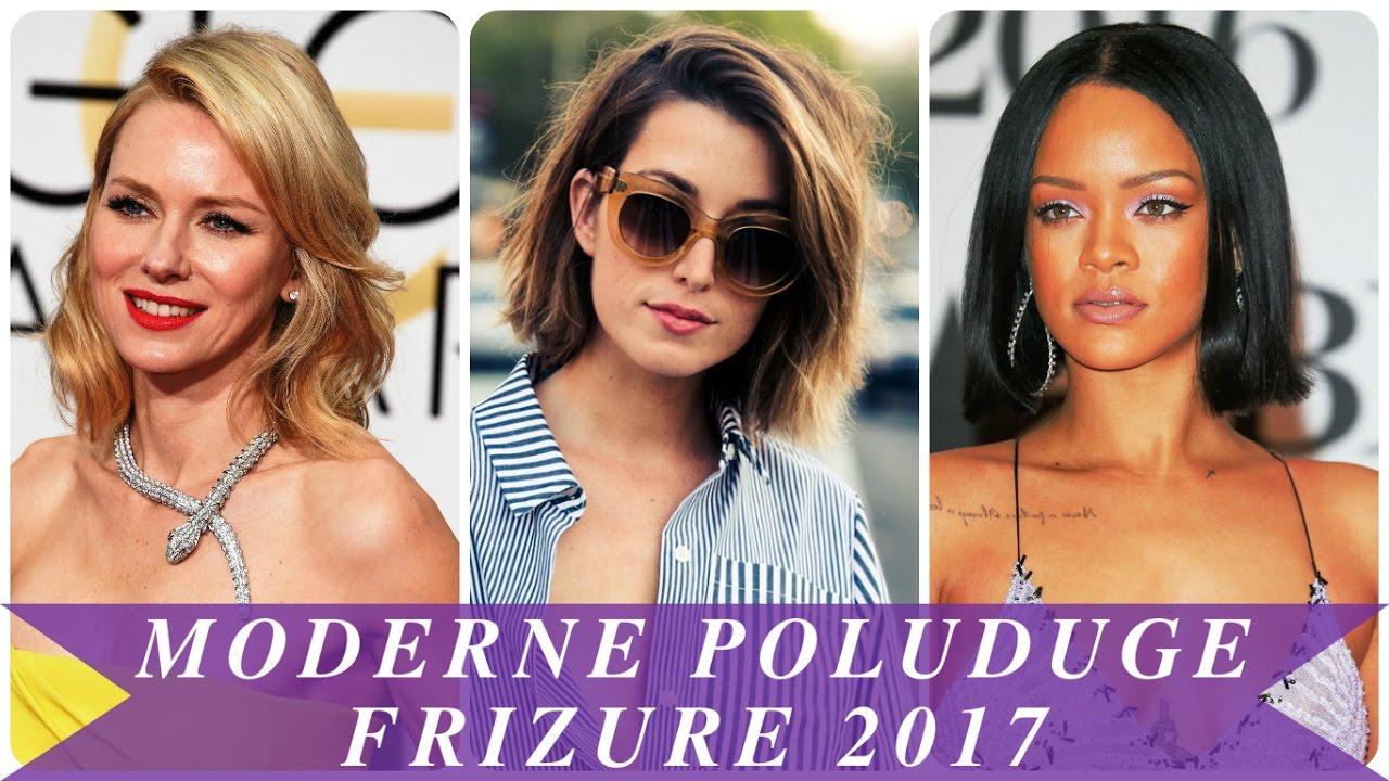 Moderne poluduge frizure 2017 - YouTube