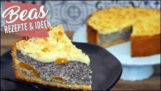 Streusel- Mohnkuchen Rezept mit Aprikosen | Backen