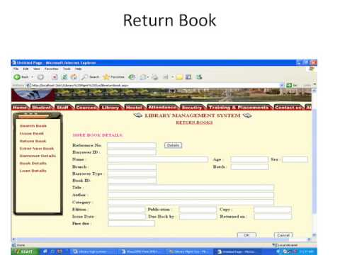 library management system project in java - YouTube