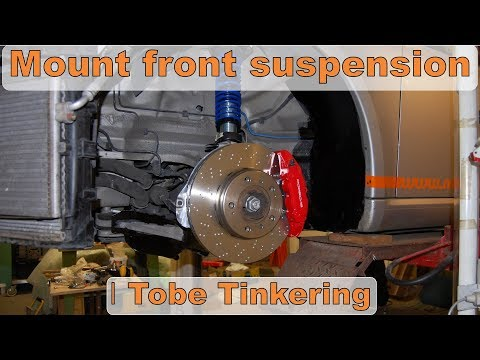 Assemble and mount front coilovers + brakes, with torque. Porsche Cayman 987 │Tobe Tinkering