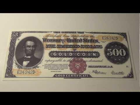 1922 $500 Gold Certificate