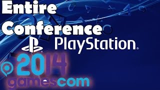 Sony Playstation Full Gamescom 2014 Conference Complete Entire