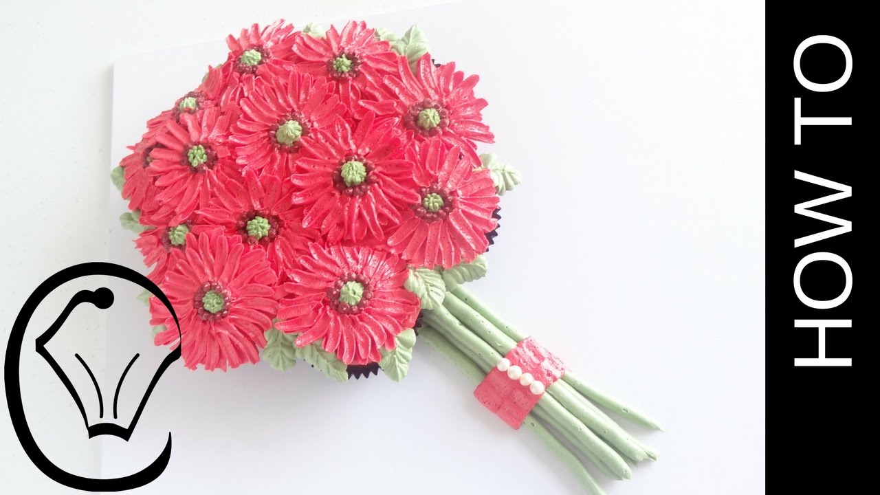 Pull-apart Butercream Gerbera Daisy Flower Cupcake Bouquet by ...