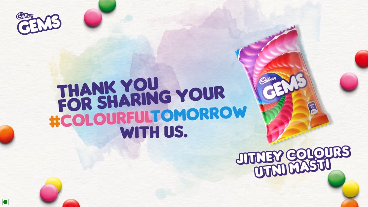 Cadbury Gems – A #ColourfulTomorrow